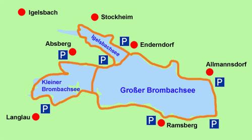 brombachsee karte Brombachsee Radweg