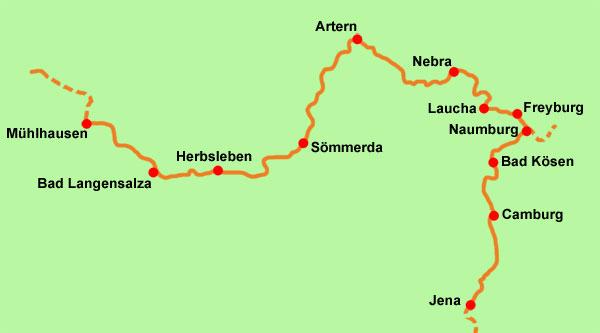 Saale Radweg Karte.Unstrut Saale Radweg